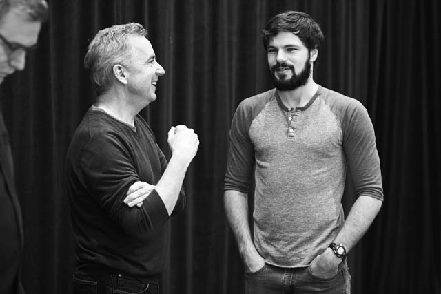 Founding Artistic Director Jim Houghton and actor Jonny Orsini. Photo by Gregory Costanzo.