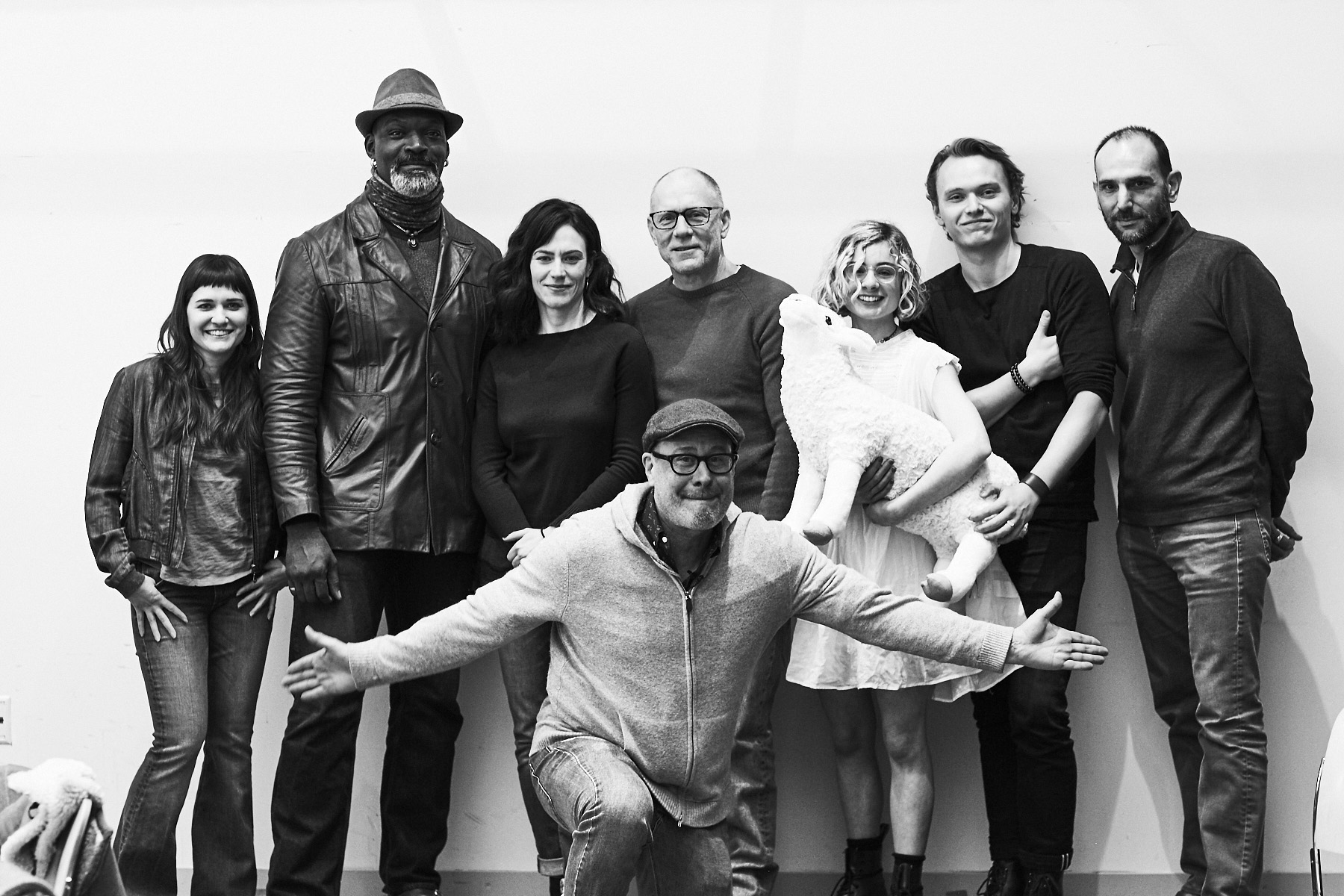 The cast of <i>Curse of the Starving Class</i> with director Terry Kinney.