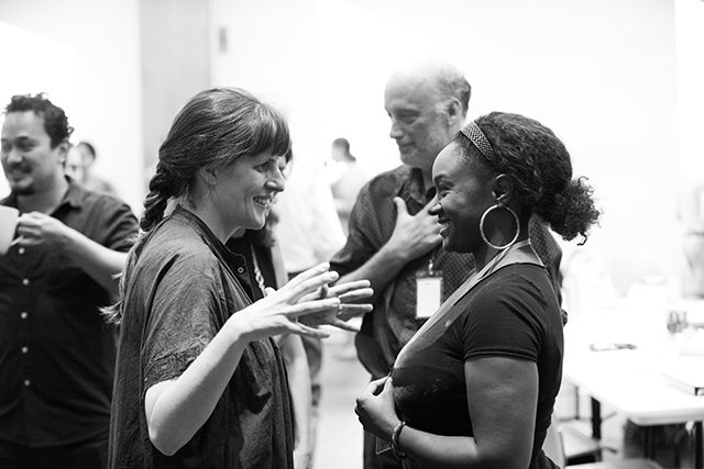 Director Sarah Benson and Saycon Sengbloh.