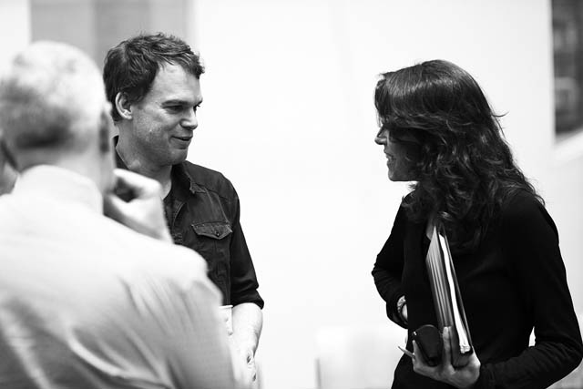 Michael C. Hall and Artistic Director Paige Evans.