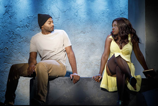 Brandon Victor Dixon and Joaquina Kalukango. Photo by Joan Marcus.