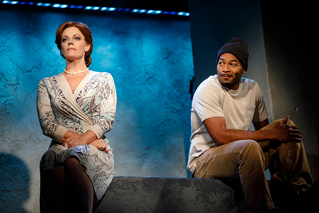 Elizabeth Stanley and Brandon Victor Dixon. Photo by Joan Marcus.
