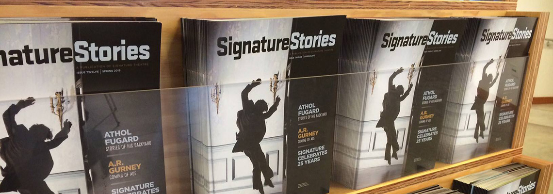 Rack of Signature Stories Magazines