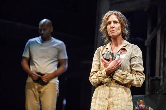 Brandon Victor Dixon and Christine Lahti. Photo by Joan Marcus.