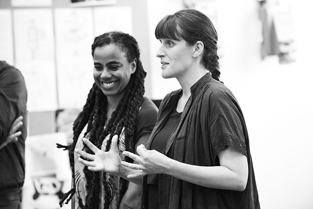 Playwright Suzan-Lori Parks and director Sarah Benson.