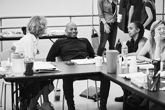 Christine Lahti, Brandon Victor Dixon, playwright Suzan-Lori Parks, and Ruibo Qian.